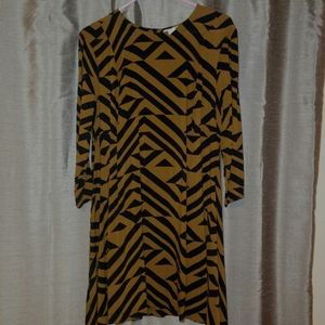 H&M tribal print long sleeve tunic dress